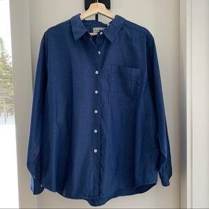 LL Bean Women's Long Sleeve Collared Shirt